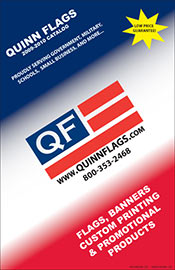 Picture of wholesale flags from  Quinn Flags catalog
