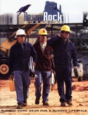 Picture of industrial protective clothing from Raven Rock Workwear catalog