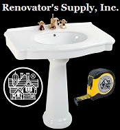 Picture of kitchen cabinet hardware from Renovator's Supply catalog