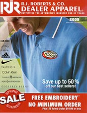 Picture of logo clothes from RJ Roberts catalog