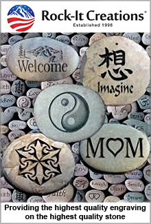 Picture of Pet grave markers from Rock- It Creations catalog