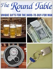 Picture of personalized mens gifts from Roundtablegifts.com catalog