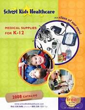 Picture of school nurse supplies from School Kids Healthcare catalog