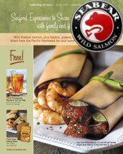 Picture of mail order seafood from SeaBear Seafood catalog