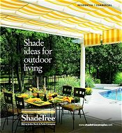 Picture of retractable awnings from ShadeTree Canopies catalog
