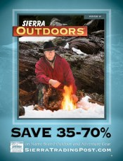 Picture of outdoor gear from Sierra Trading Post Outdoors catalog