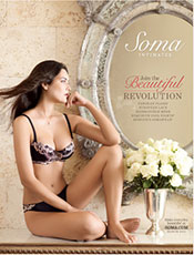 Picture of women's intimate apparel from Soma Intimates catalog