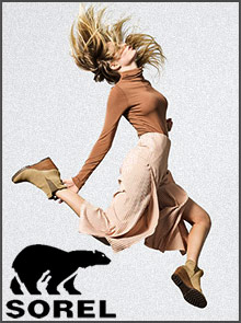 Picture of sorel boot catalog from Sorel catalog