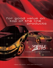 Picture of car cleaning products and supplies from Sparkle Auto � catalog