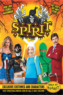 Picture of spirit halloween store from Spirit Halloween catalog