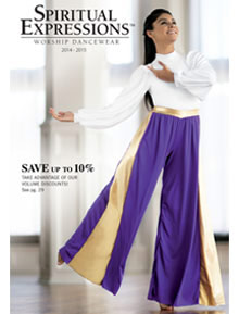 Picture of praise dance wear from Spiritual Expressions catalog