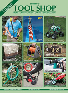 Picture of home improvement tools from Sporty's Tool Shop catalog