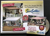 Picture of home patio cover from SunSetter Awnings catalog