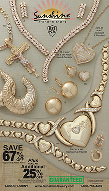 Picture of discount gold jewelry from Sunshine Jewelry catalog