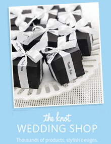 Picture of the knot wedding shop from The Knot Wedding Shop catalog
