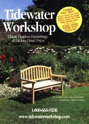 Picture of outdoor wood furniture from Tidewater Workshop catalog