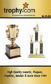 Picture of plaques and trophies from Trophy.com catalog