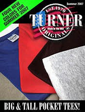Picture of big and tall t-shirts from Turner Originals catalog