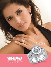 Picture of engagement diamond ring from Ultra Diamonds catalog
