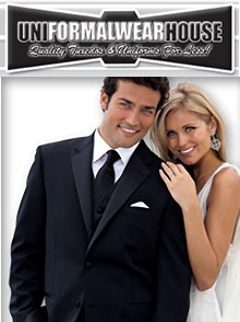Picture of men's tuxedos from Uniformalwearhouse catalog