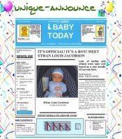 Picture of unique birth announcements from Unique-Announce.com catalog