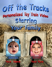 Picture of personalized toddler gifts from U-TrainDVD.com catalog