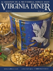 Picture of peanut brittle from Virginia Diner catalog
