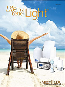Picture of seasonal affective disorder light therapy from Verilux® Life In A Better Light™ catalog