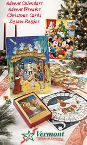 Picture of christmas card greetings from Vermont Christmas Company catalog