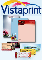 Picture of custom design business cards from Vistaprint catalog