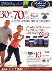 Picture of health food supplements from The Vitamin Shoppe catalog