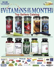 Picture of top rated vitamins from Vitamins of the Month catalog