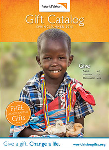 Picture of world vision gift catalog from World Vision catalog