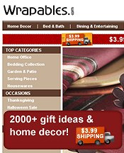Picture of home decor and gifts from Wrapables catalog