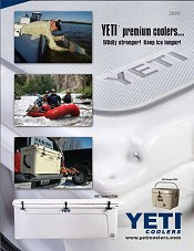 Picture of large coolers from Yeti Coolers catalog