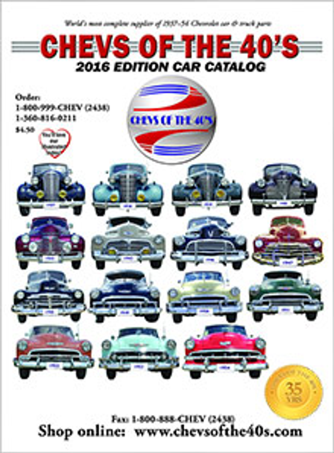 Chevs of the 40's Catalog Cover