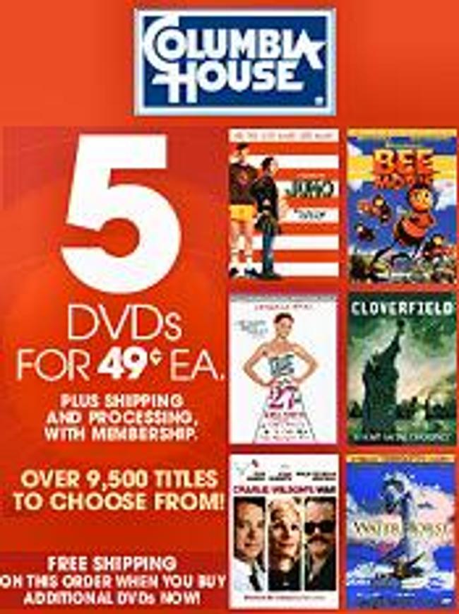 Columbia House DVD Club Catalog Cover