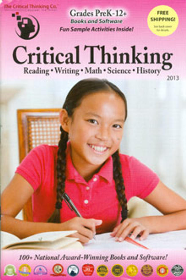 Critical Thinking Catalog Cover
