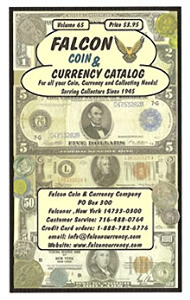 Falcon Coin Currency Catalog Cover