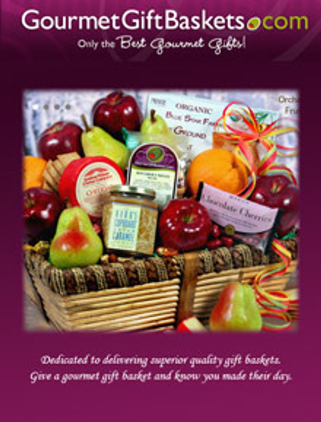 Gourmet Gift Baskets Catalog Cover