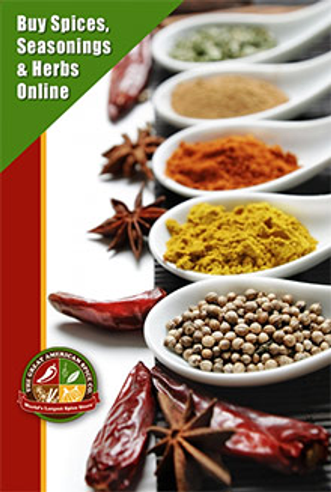 Great American Spice Co. Catalog Cover