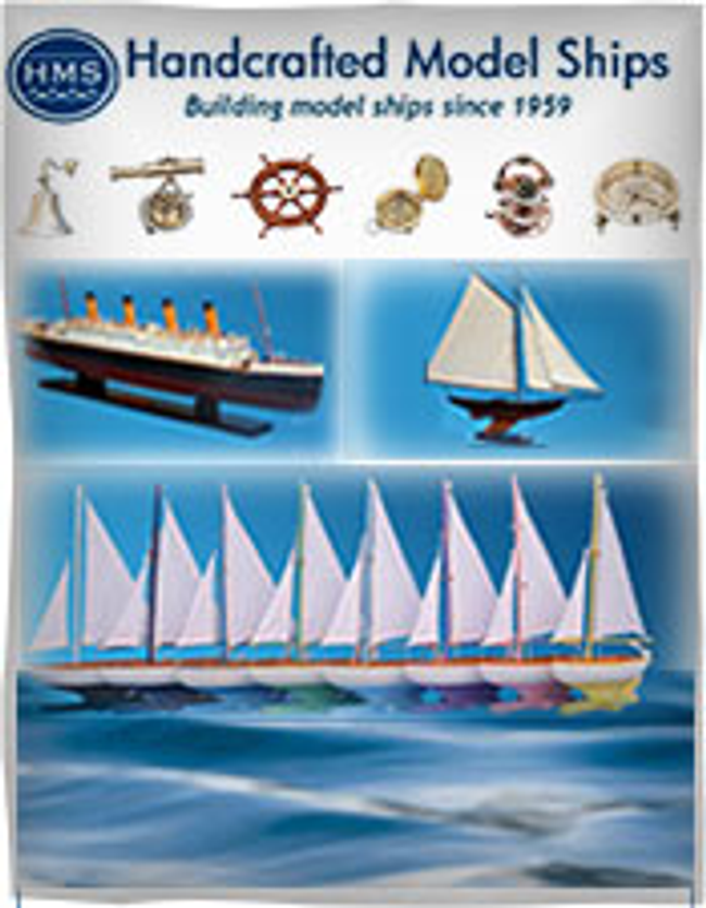 Handcrafted Model Ships Catalog Cover