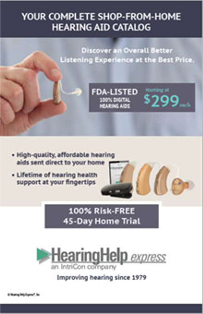 Hearing Help Express Catalog Cover