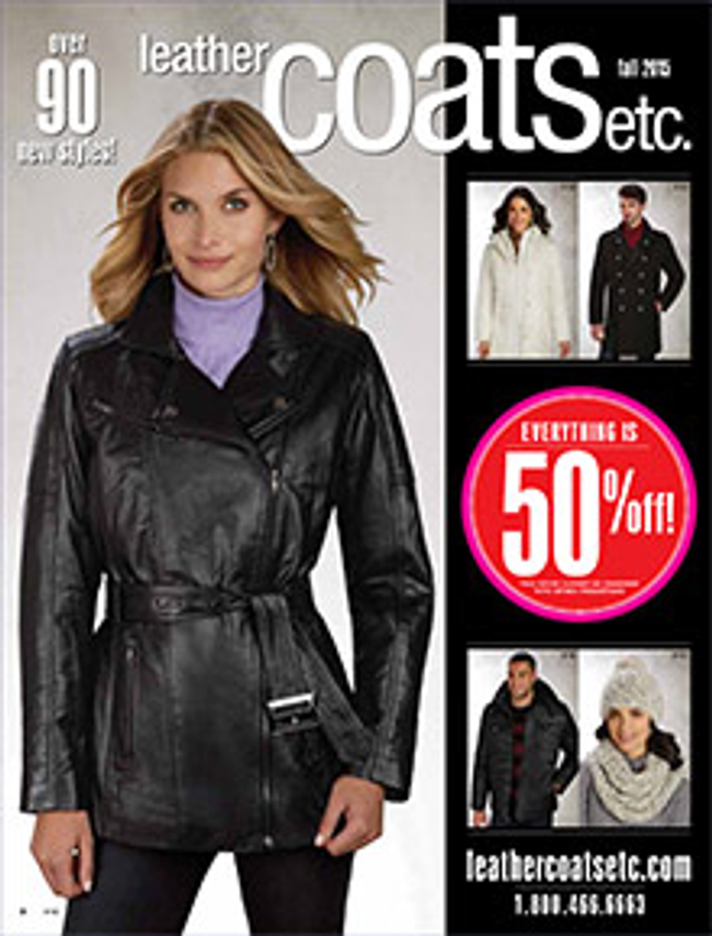 Leather Coats Catalog Cover