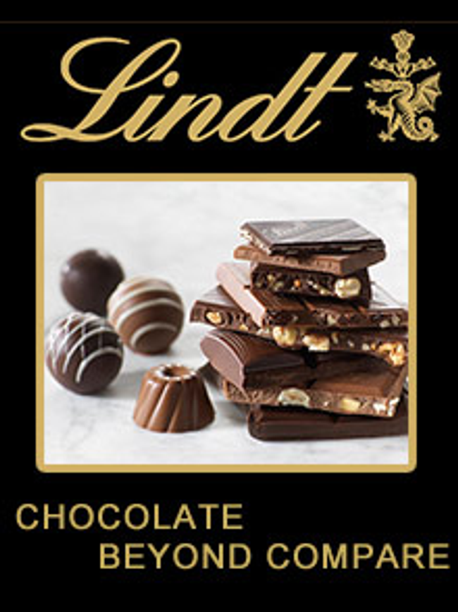 Lindt Chocolate Catalog Cover