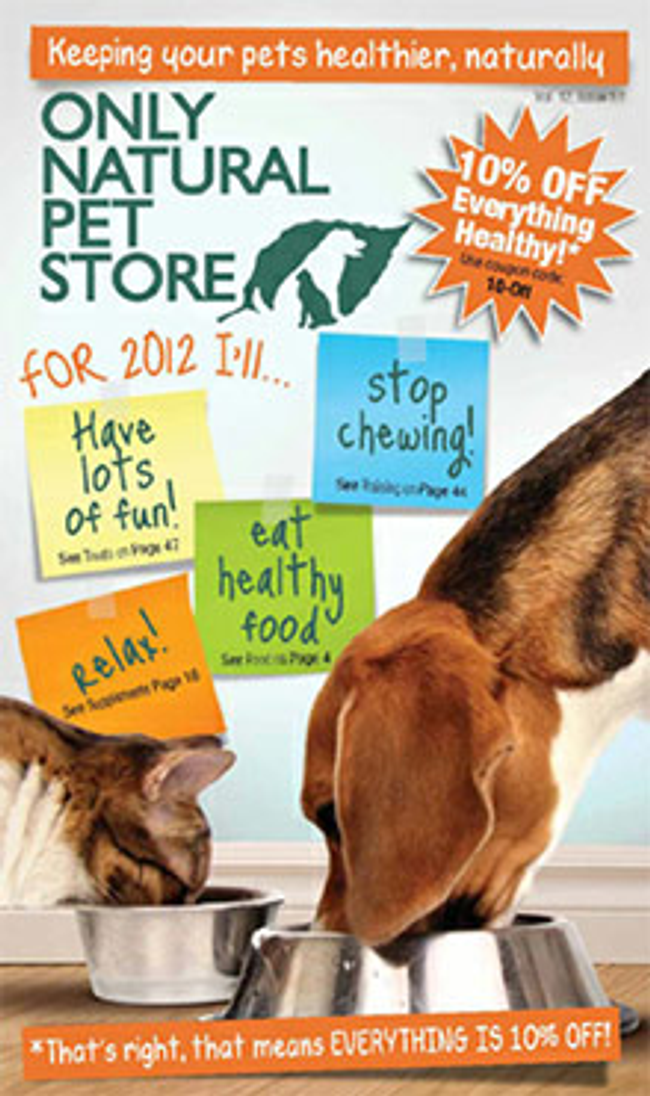 Only Natural Pet Store Catalog Cover