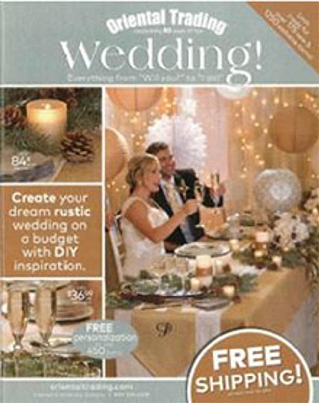 Oriental Trading Wedding Catalog Cover