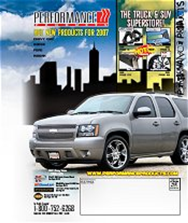 Domestic Trucks - Performance Products ® Catalog Cover