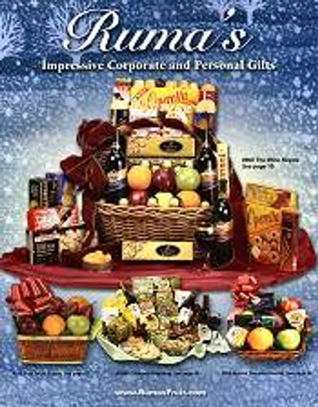 Ruma's Fruit & Gift Basket World Catalog Cover