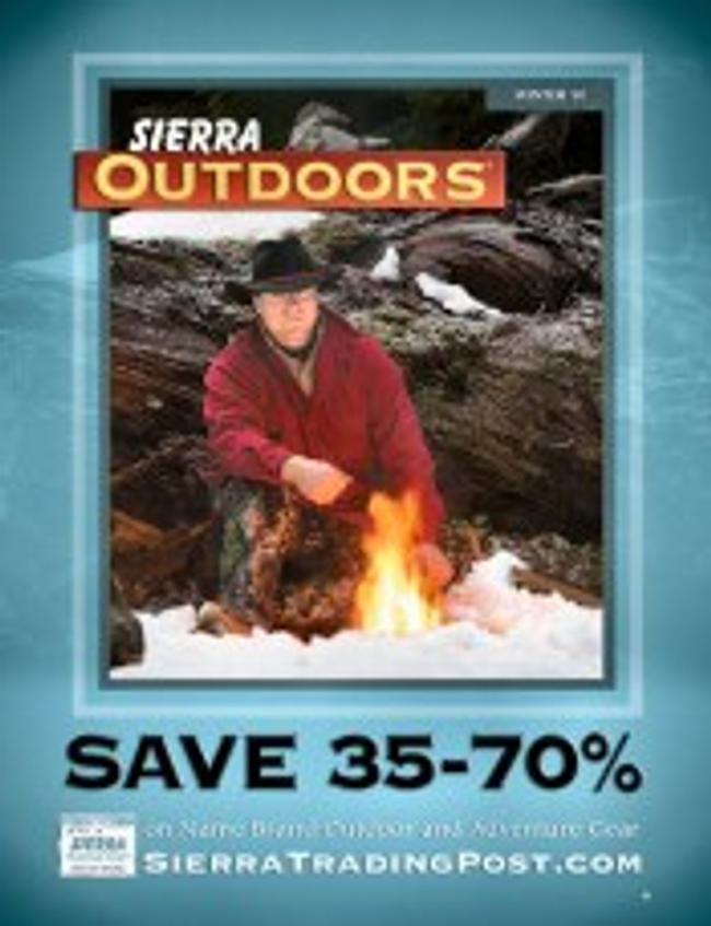 Sierra Trading Post Outdoors Catalog Cover